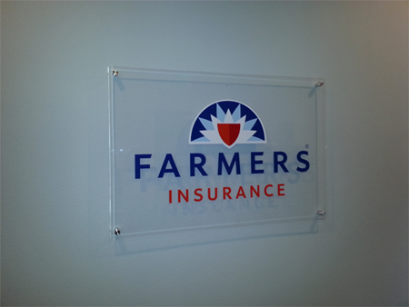 Dallas TX Printing Services Lobby Signage Farmers Insurance